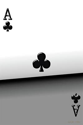 Digital Art - Ace Of Clubs   by Serge Averbukh