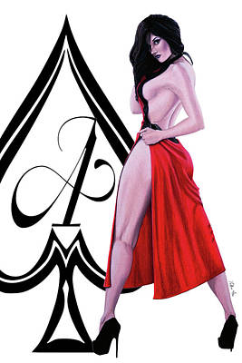 Digital Art - Ace Of Spades 2 by Joseph Ogle