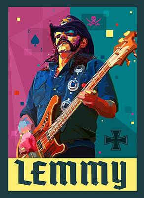 Lemmy Digital Art - Ace Of Spades by Mal Bray