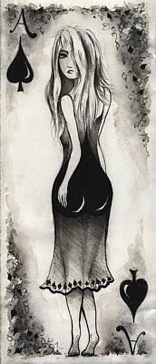 Ace Of Spades Original by Rachel Christine Nowicki