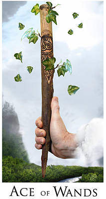Ace Of Wands Digital Art - Ace Of Wands by Brian Harker