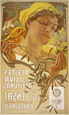 Aceites De Oliva Y Aceitunas G. Sensat Art Print
