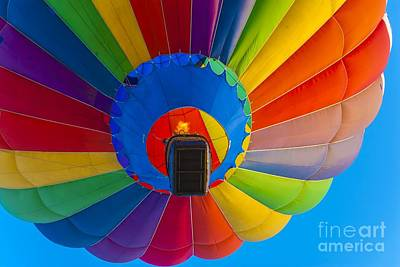 Photograph - Ascending Hot Air Balloon by Anthony Sacco