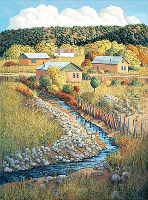 Painting - Acequia Del Llano by Donna Clair