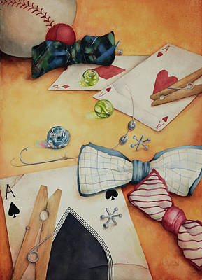Aces And Jacks Print by Lorraine Ulen