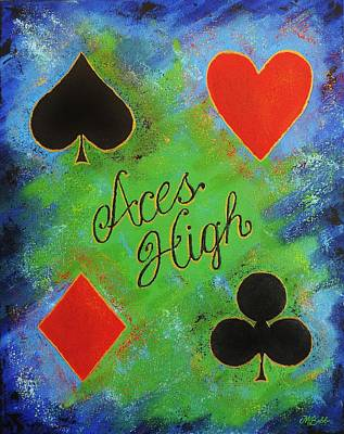 Painting - Aces High by Margaret Bobb