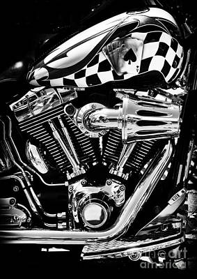 Checkered Black-and-white Photograph - Aces High by Tim Gainey