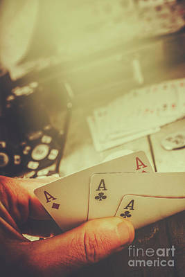Poker Photograph - Aces Up The Sleeve by Jorgo Photography - Wall Art Gallery
