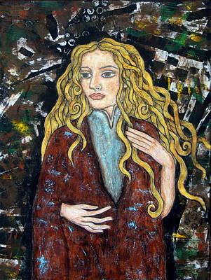 Folk Art Mixed Media - Achele by Rain Ririn