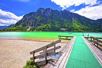 Photograph - Achen Lake Turquoise Water And Alps Mountains View by Brch Photography