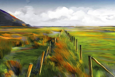 Post Mixed Media - Achill Island - West Coast Ireland by Bob Salo