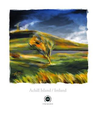 Autumn Landscape Mixed Media - Achill Island Ireland Autumn Colors by Bob Salo