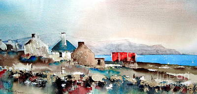 Painting - Achill... Towards Minaun From Pollagh by Val Byrne
