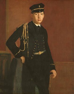 Painting - Achille De Gas In The Uniform Of A Cadet by Edgar Degas