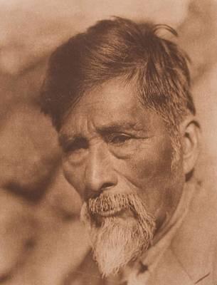 Achomawi Man , Native American By Edward Sheriff Curtis, 1868 - 1952 Art Print