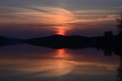 Photograph - Achray Sunset, Grand Lake, Algonquin Park by David Porteus