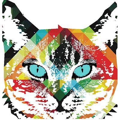 Acid Cat Dream By Robert R Art Print