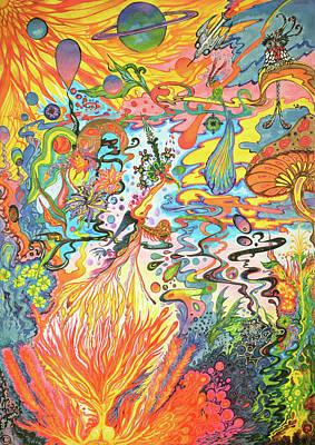 Painting - Acid Dreams by Liz Baker