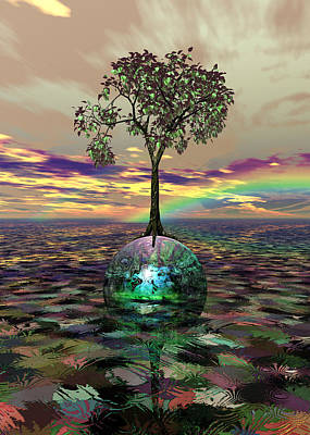 Digital Art - Acid Tree by Jay Salton