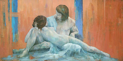Nude Painting - Acis And Galatea by Steve Mitchell