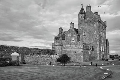 Photograph - Ackergill Tower 1190 Bw by Teresa Wilson