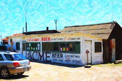 Acme Beer At The Old Lunch Shack At China Camp Art Print by Wingsdomain Art and Photography