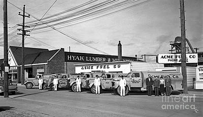 Photograph - Acme Fuel Crew And Trucks by Merle Junk