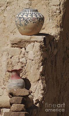 Acoma Pueblo Pottery Art Print by Debby Pueschel