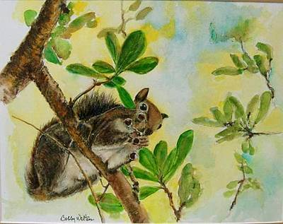 Painting - Acorn Lunch by Bobby Walters