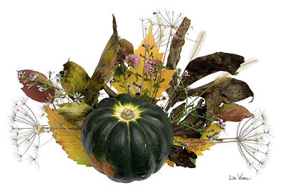 Digital Art - Acorn Squash Bouquet by Lise Winne