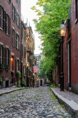 Photograph - Acorn St. 1 by Michael Hubley