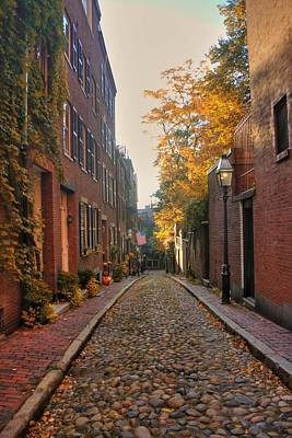 Autumn In New England Photograph - Acorn St. 3 by Joann Vitali
