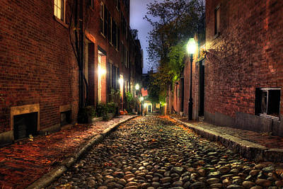 Photograph - Acorn Street - Beacon Hill - Boston by Joann Vitali