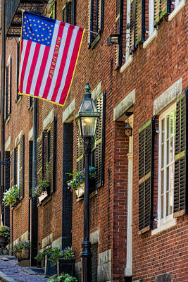 Photograph - Acorn Street Details by Susan Candelario