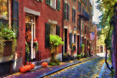 Photograph - Acorn Street In Autumn by Joann Vitali