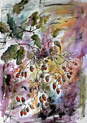 Painting - Acorns Autumn Expression by Ginette Callaway