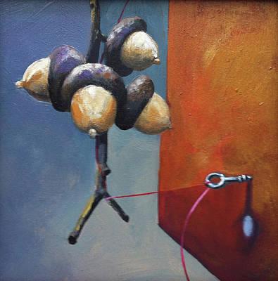 Hranilovich Painting - Acorns by Barbara Hranilovich