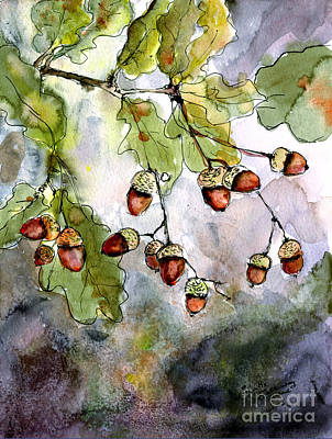 Painting - Acorns  by Ginette Callaway