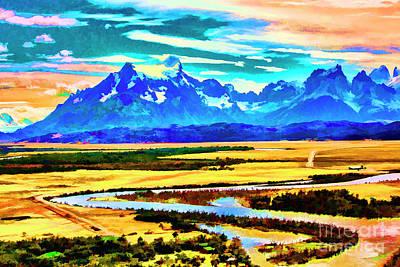 Digital Art - Acoross The Valley by Rick Bragan