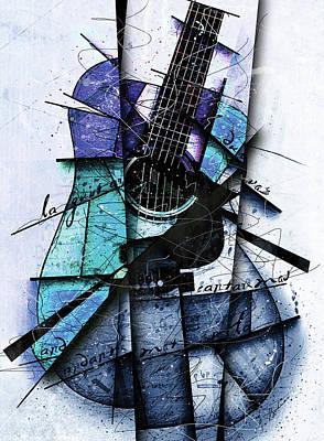 Acoustic Alchemy In Blue Art Print by Gary Bodnar