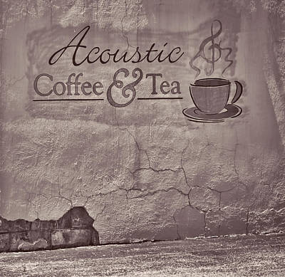 Photograph - Acoustic Coffee And Tea - B/w Platinum1b by Greg Jackson