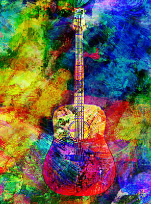 Ally Mixed Media - Acoustic Colors by Ally White