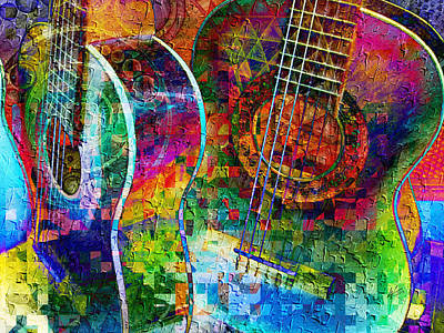 Acoustic Cubed Art Print