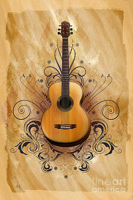 Concert Digital Art - Acoustic Elegance by Peter Awax