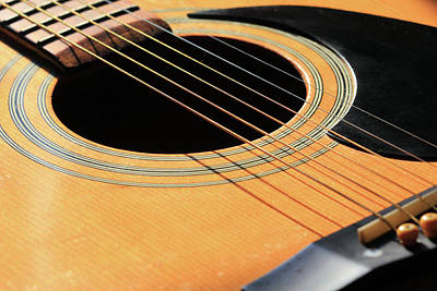 Photograph - Acoustic Guitar by Angela Murdock