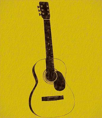 Session Musician Painting - Acoustic Guitar by Dan Sproul