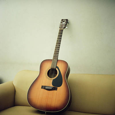 Sofa Photograph - Acoustic Guitar by Jiang D photography