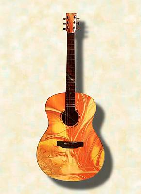Digital Art - Acoustic Guitar - Musical Instruments by Anastasiya Malakhova