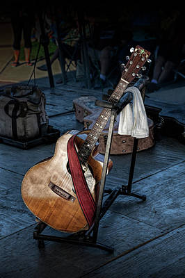 Photograph - Acoustic Guitar On Stage by Randall Nyhof