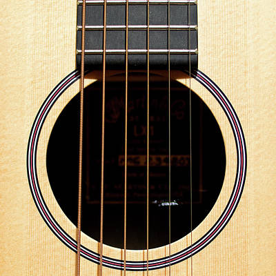 Photograph - Acoustic Guitar Sq by Rospotte Photography